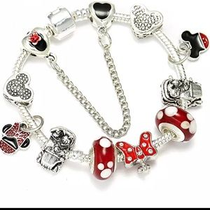 18cm Brand New Minnie Mouse Charm Bracelet